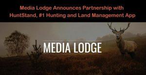 media lodge partners with huntstand