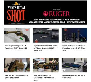 what's hot at shot show 2020 new guns new holsters new gear